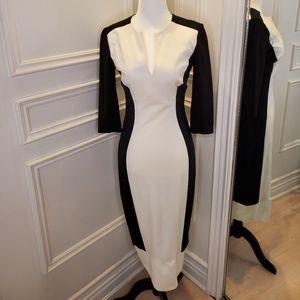 Ted Baker Silhouette Bodycon Midi Dress - B&W, 6